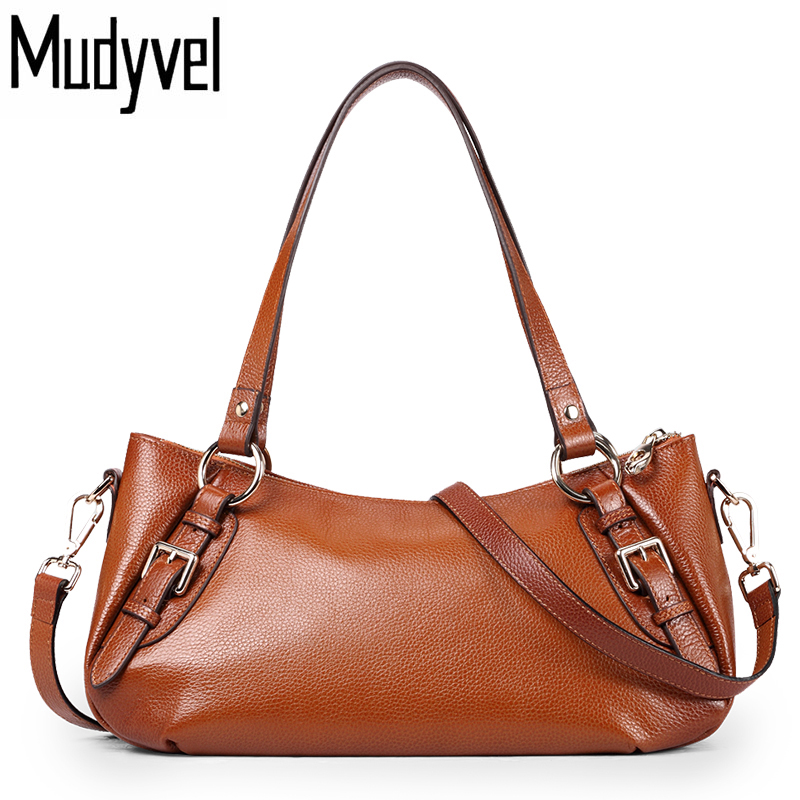 New Fashion Luxury Handbags Women Bags Designer 100% Genuine Leather Cowhide ladies Shoulder bags Vintage Messenger Bag women genuine leather handbags ladies personality new head layer cowhide shoulder messenger bags hand rub color female handbags