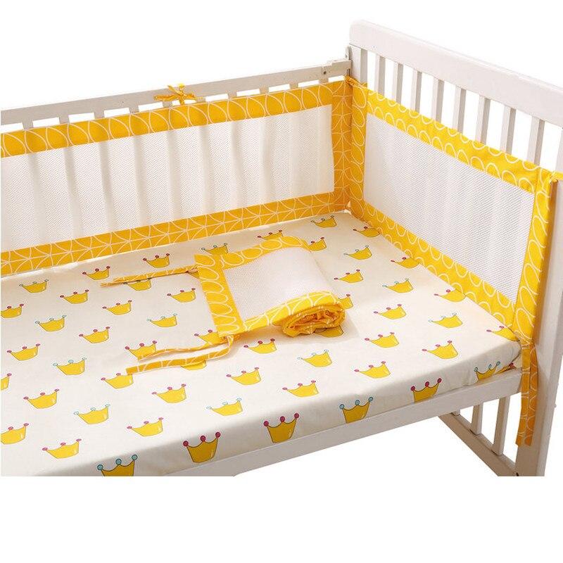 1 ST Lange Katoen / Polyester Zomer Pasgeboren Wieg Bumper Veiligheid - Beddegoed - Foto 2