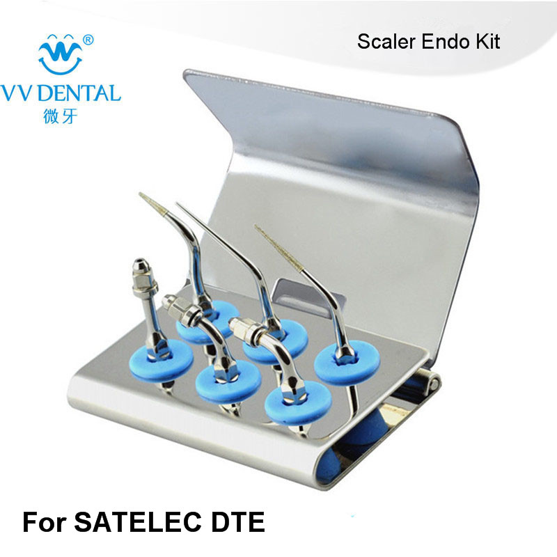 2 SETS SEKS Dental Satelec EndoSuccess kit FOR DENTAL ENDODONTICS TREATMENT FIT GNATUS NSK HU FRIEDY AND WOODPECKER-DTE SCALERS 1 set spkg dental scaler perio tips kit for satelec endosuccess retreatment nsk paro set b and gnatus hu friedy dental scalers