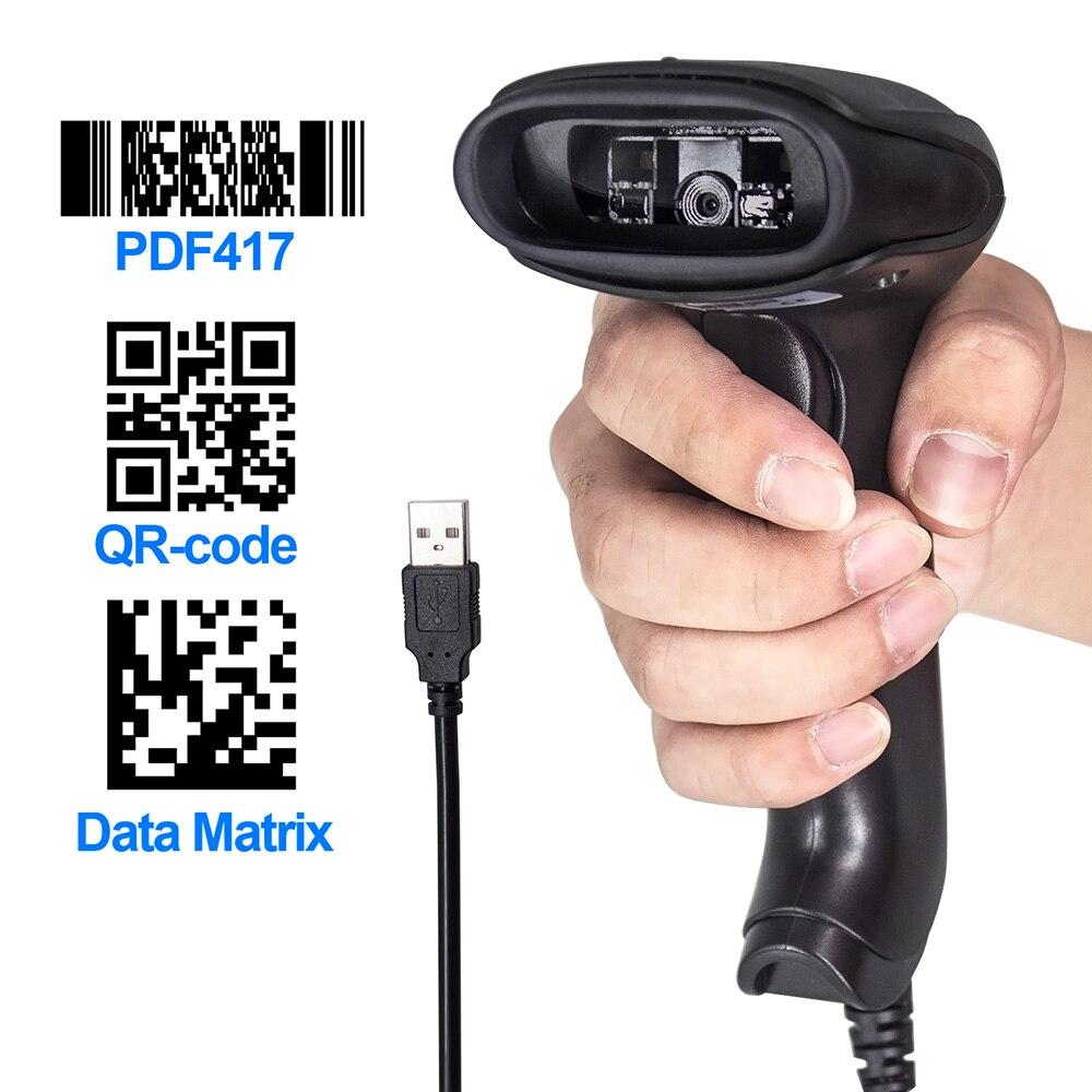 Symcode Scanner Code-Reader Handheld 2D USB CMOS for Wired Usb2.0-Bar Working 1D/2D