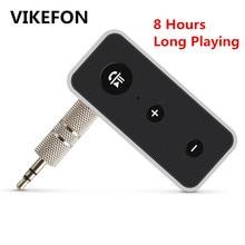 Vikefon bluetooth 5.0オーディオレシーバーステレオワイヤレスアダプタ3.5ミリメートルauxジャックマイクためventionスピーカー音楽bt受信機