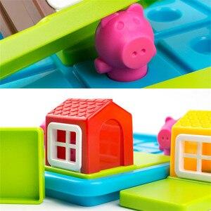 Image 2 - ילד חכם הסתר & Seek לוח משחקי שלוש חזרזירי 48 אתגר עם פתרון משחקי IQ הדרכה צעצועים לילדים oyuncak