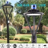 LED street garden light lamp 50W led Area post top lighting  100-277VAC LED Circular Area Light