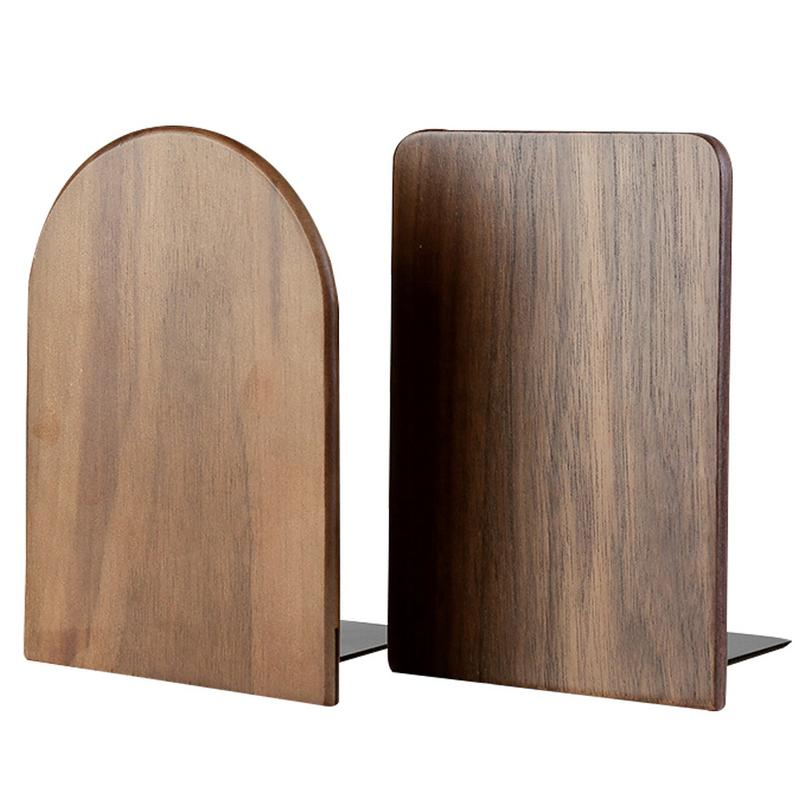 2pcs Large Size Solid Black Walnut Storage Bookcase Book Holder Book Stand For Students Office Work School Office Supplies Skilful Manufacture Desk Accessories & Organizer