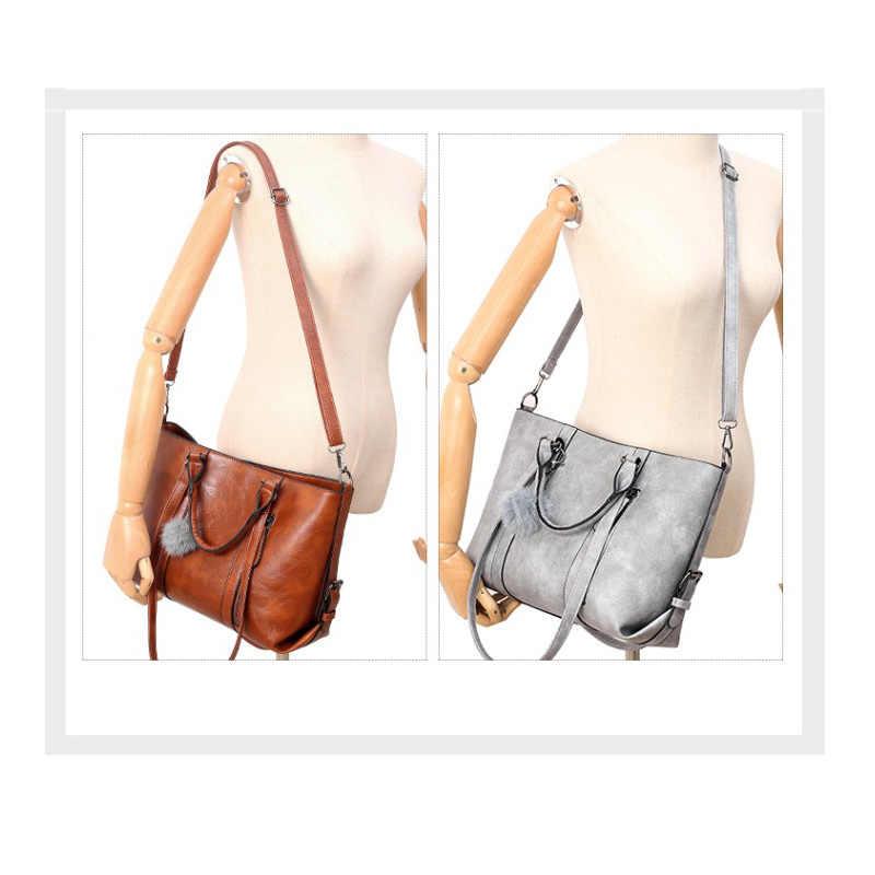 Женский Роскошные кошельки и Сумки наборы из 4 предметов Crossbody сумки для Для женщин 2019 масло воск кожа большая сумка известный бренд C679