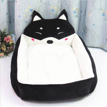 Dog Bed Pad Animal Cartoon Shaped Kennels Lounger Sofa Soft Pet House Mat Big Basket Mattress bed