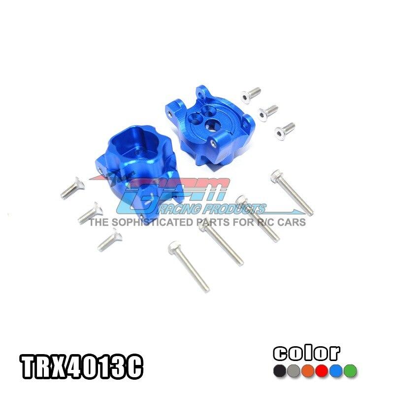 TRAXXAS TRX-4 82056-4 En alliage D'aluminium arrière vague boîte connexion avec en acier inoxydable vis-ensemble TRX4013C livraison gratuite