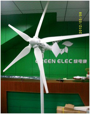 MAYLAR@ 15 Years Life Time 1000W Wind Generator,Dolphin,5pcs Blades,Wind Turbine, Start Wind Speed 3m/s