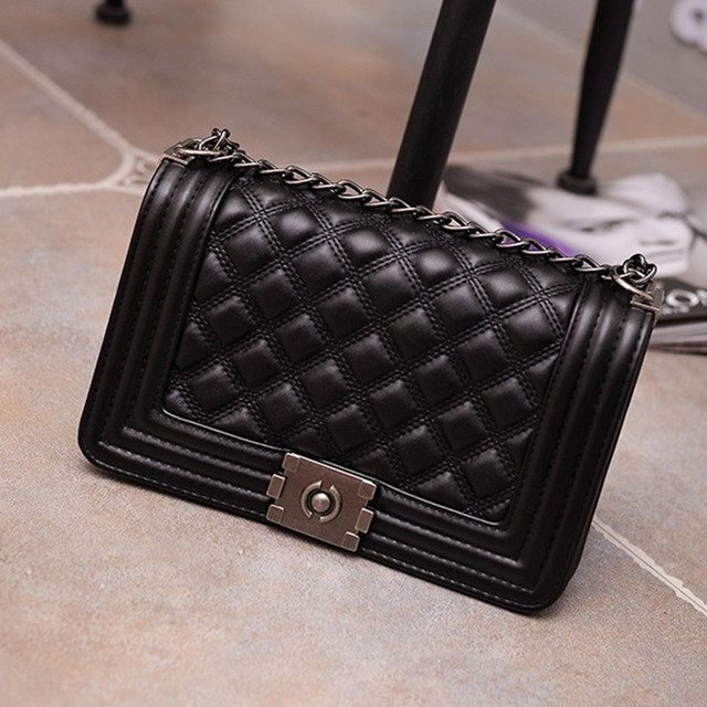 Vintage Diamond Lattice Handbags Hotsale Women Evening Clutch Ladies Party Chain Famous Brand Shoulder Messenger Crossbody Bags