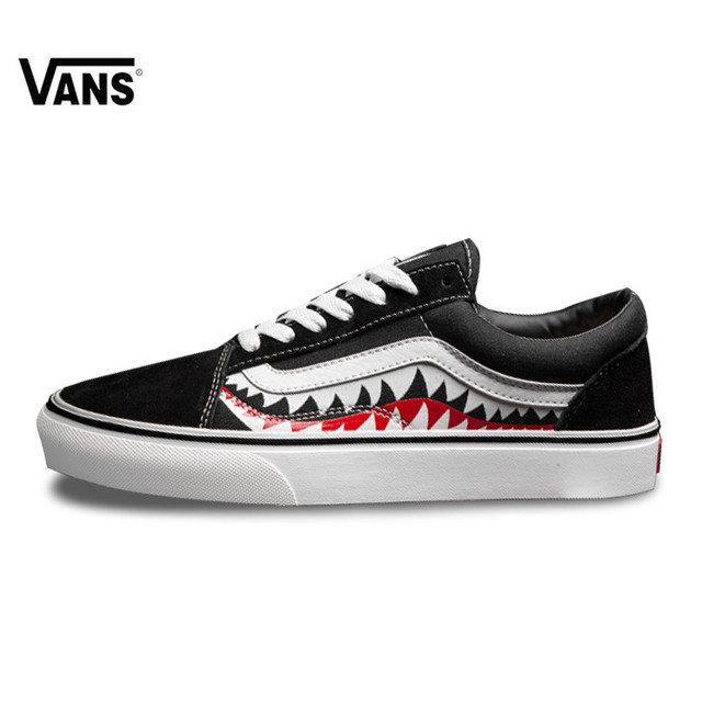 cd3a967a8d3 Vans X Bape Sharktooth Custom Bape SHARK MOUTHS Men Sneakers Canvas Sports  for Men 4VN000D3HY95 40-46