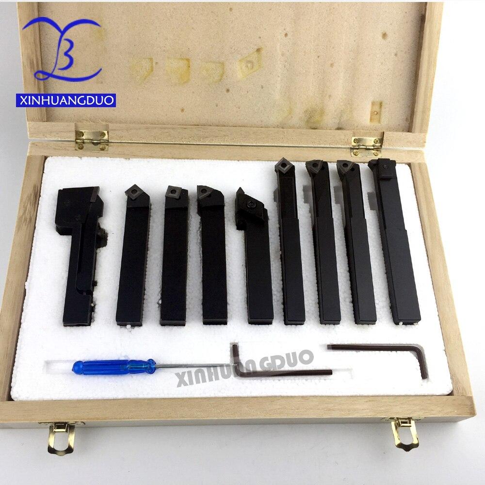 new 16mm 9pcs set indexable carbide turnnig tools lathe lathe cutting tools set cutter tool set