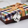 925 Чистого Серебра Ребенок Ноги Ожерелье Двойное Имя Штамп Кулон Персонализированные Начальная Памятный Камень Ювелирные Изделия Подарок Детям