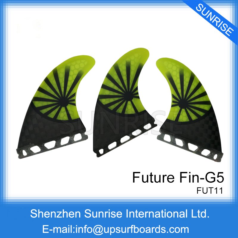 Future G5 Quilhas Carbon Surfboard Future Fins Honeycomb Fin in Surfing Fins