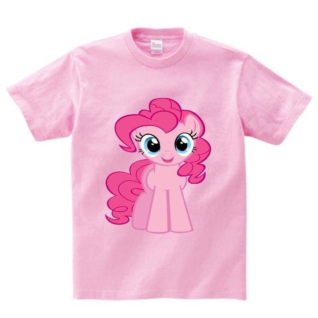 cb10aef03 Summer Girls My Little Poli Anime T Shirt Pinkie Pie cartoon Clothes  Children For Girls Kids T-shirts Lovely Pony Clothing NN