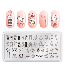 Unicorn Patterned Nail Stencil for Art