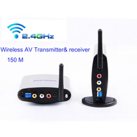 New 150M 2.4G Wireless AV Transmitter Receiver Wireless Sharing Device and IR Remote Extender with Power adapter