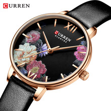 CURREN Kreatif Warna Kulit Jam Tangan Wanita Wanita Kuarsa Watch Relogio Feminino Women Wrist Watch Montre Femme(China)