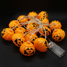 3.5 Meter 16 LED Pumpkin Fairy String battery operated for Halloween Lighting Garden Party Christmas Decoration free shipping