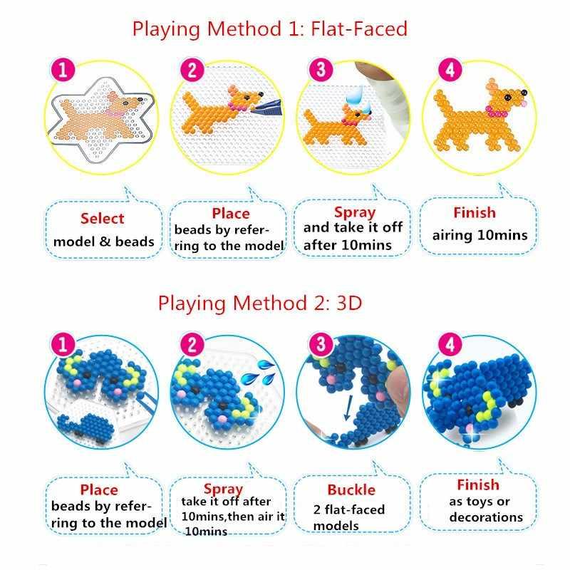 300 قطعة Pegboard الخرز المياه لتقوم بها بنفسك لعب للأطفال حماة حبة مجموعة فيوز بانوراما الاطفال التعليمية لغز فتاة بوي Beadbond لعبة