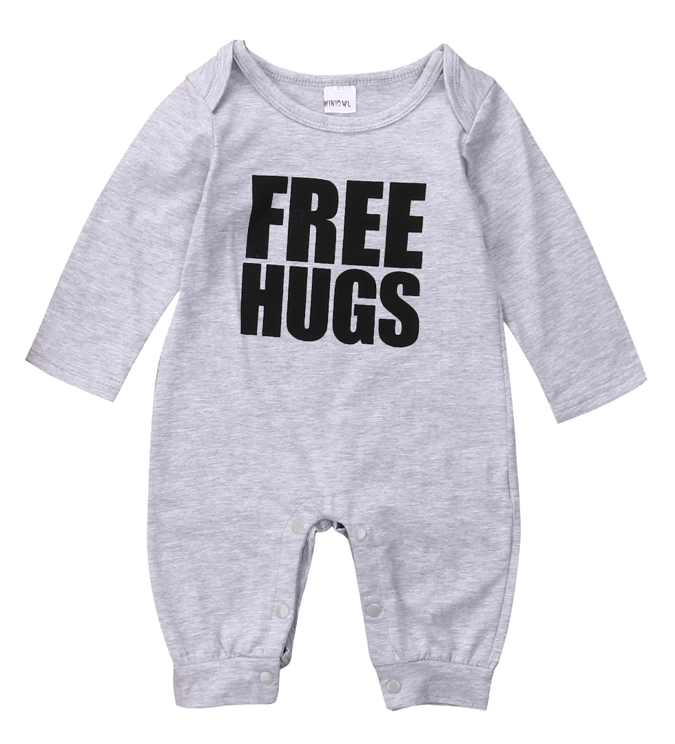 Newborn Baby Boys cotton Hugs Rompers Babies Boy Warm Letter Long Sleeve Romper Jumpsuit Playsuit Outfits NEW Clothing newborn baby rompers baby clothing 100% cotton infant jumpsuit ropa bebe long sleeve girl boys rompers costumes baby romper