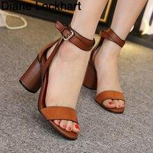 Chunky Heel Women Ankle Strap Gladiator Sandals Women's retr