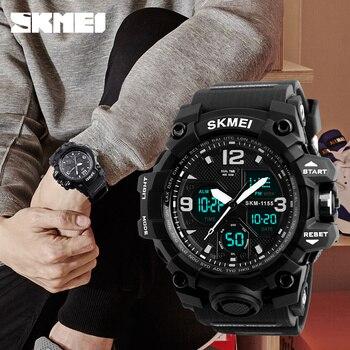 SKMEI Outdoor Military Watch Sport Digital WristWatches Men Alarm Clock Chrono Waterproof 50m Big Dial Electronic Quartz Watches
