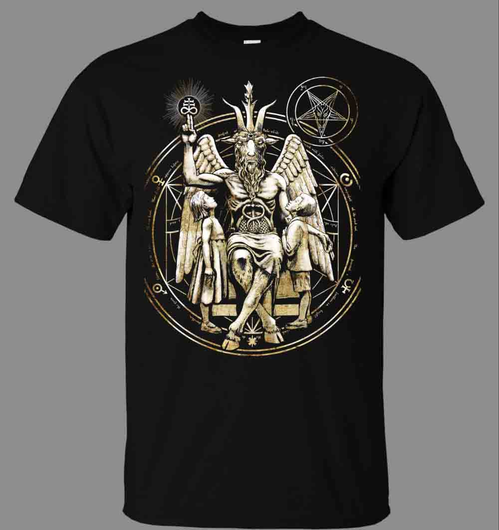 Reasonable Art T-shirt Baphomet Eliphas Levi Tee Shirt Hipster Harajuku Brand Clothing T Shirt 2017 Summer Mens Brand Clothing O-neck T-shirts