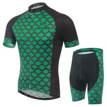 XINTOWN new green grid men Cycling Jersey/short Sleeve Racing Bicycle Clothing Roupa Ciclismo/Breathable jersey