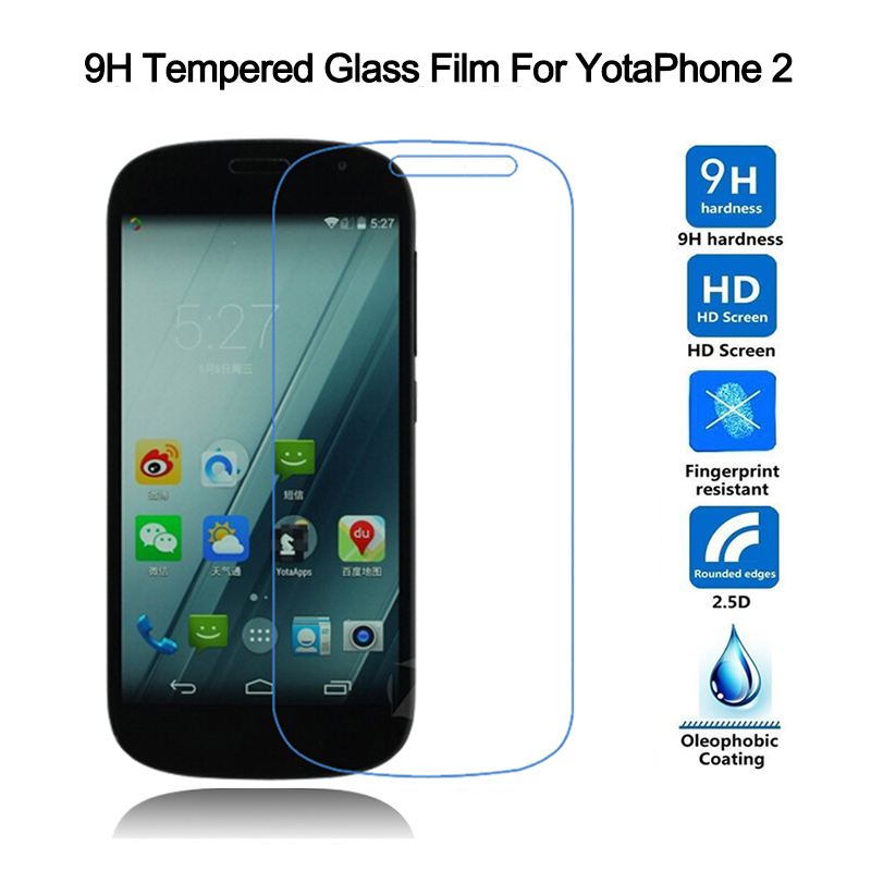 5 개 / 몫 Yota 전화 2 강화 유리 방폭 화면 보호기 HD - 휴대폰 액세서리 및 부품 - 사진 2
