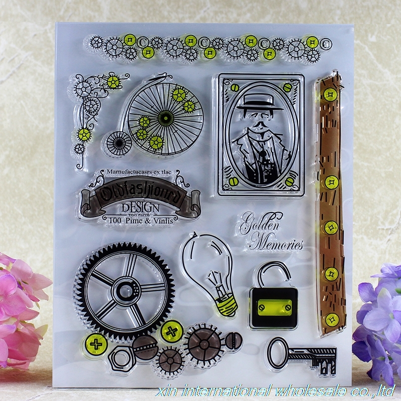inventor clear stamps Global travel clear stamps ACRYLIC VINTAGE timbres transparents scrapbooking wooden rubber stamp global global adv workbook