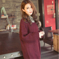 Autumn Sweater For Women 2017 New Arrive Long Sleeve Knitted Sweater Tops Cardigan Winter Loose Outwear