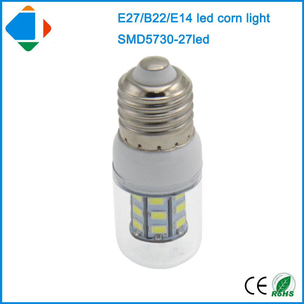 ampoule led e27 corn lamp 6W smd 5730 epistar 27leds 360 Angle lighting Ac 110 220 Volt led lights for home warm white lamps