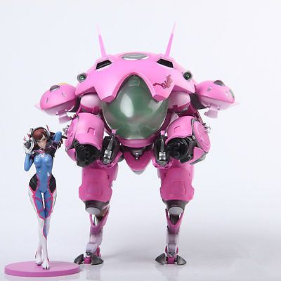 NEW OW Heroes DVA Hana Song Mecha D.Va PVC Figure Statue Model Gift Toy Collectibles Model Doll 480 wow world of orc statue figure high quality wolf rider 10 toy collectibles model doll 275