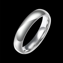 REFAXI 1pc Elegance Stackable Silver Ring Wedding Bands Anniversary Rings for Women Valentine's Day Love Gift