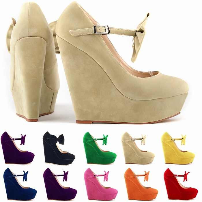 Kadın pompaları 14CM takozlar akın yüksek topuklu kadın ayakkabı ilmek sivri burun sevgililer düğün elbisesi ayakkabı