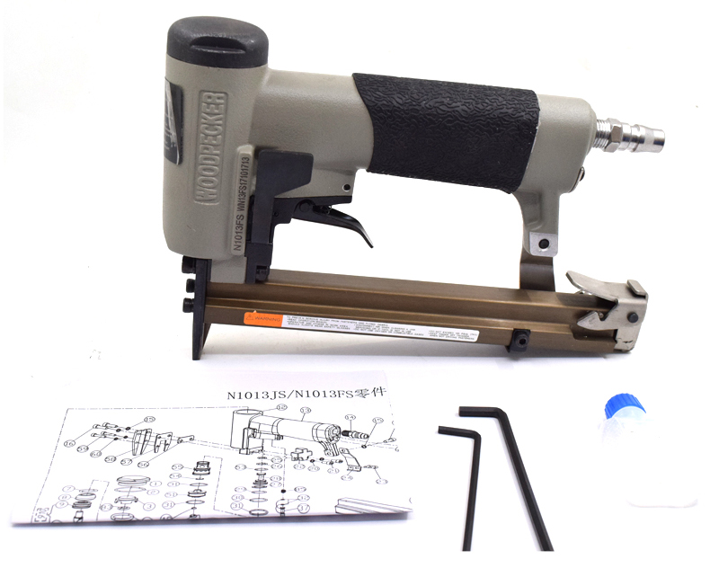 High Quality Repeater 1013JS Fast Top Speed Pneumatic Nail Gun Air Stapler Gun Tool Brad Nailer Gun U Style Furniture Wood Sofa dongcheng ff t50dc nail gun air brad nailer 25 50mm straight nail 1 4mm diameter stapler 4 8 bar gun 8mm pipe