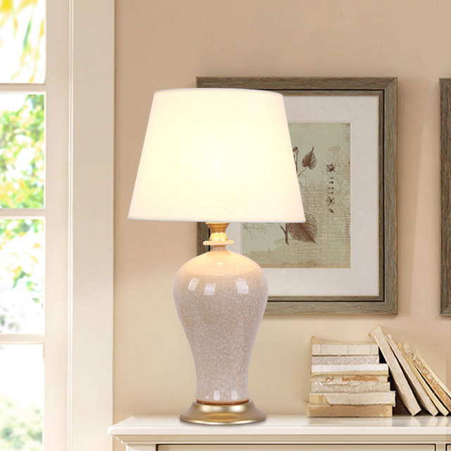 Modern Porcelain Table Lamp Bedside Ceramic Lamp Living