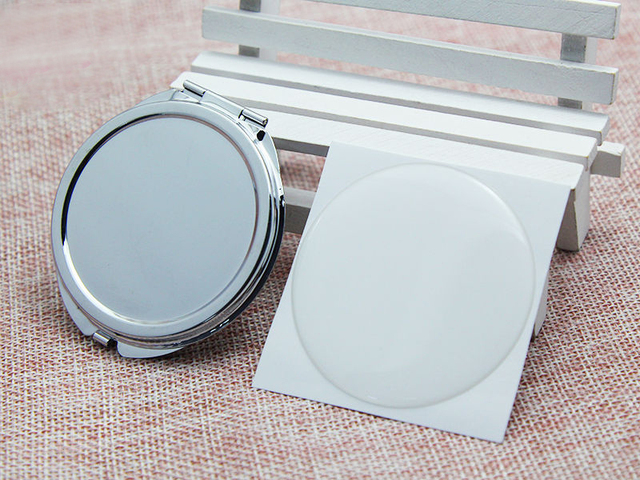 Ronde Spiegel Metaal : 62mm ronde compacte spiegel blank epoxy sticker ronde metalen