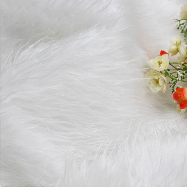 Hot White faux fux fabric initation animal fur fabric for sewing velours fabric width 1 6M