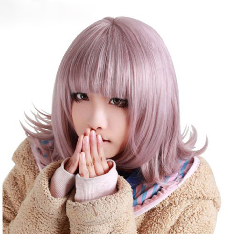 High Quality Hair Anime Super DanganRonpa Dangan Ronpa Chiaki Nanami Heat Resistant Cosplay Costume Wig + Wig Cap