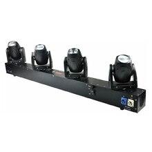 Freies Verschiffen 4 Köpfe 60W Led Mini Strahl Moving Head Licht Professionelle Bühne DJ Beleuchtung DMX Controller Disco Projektor laser