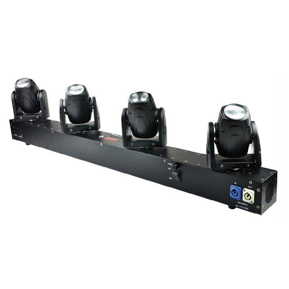 Livraison gratuite 4 têtes 60 W Led Mini faisceau lumière principale mobile scène professionnelle DJ éclairage DMX contrôleur Disco projecteur Lasers