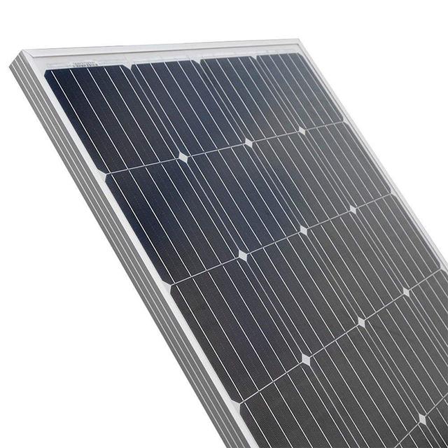 Solar Panel 100w 200w  18V 12V 24V Light weight  Glass Temper Solar Panel Mono crystalline cells