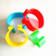 16mm20mm 100pcs Plastic Leg Bands for Chickens and Poultry chicken rings plastic clip colored Turkey foot leg