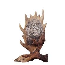 SaiDeKe European vintage Christmas deer figurine ornaments crafts retro Elk antlers Miniatures for Home decoration accessories