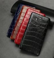 Diseño del cocodrilo de Cuero de Vaca Genuino Volver Cubierta Del Teléfono Móvil para el iphone X, Para Galaxy Note 8, Para Huawei Mate 10/Mate 10 Pro