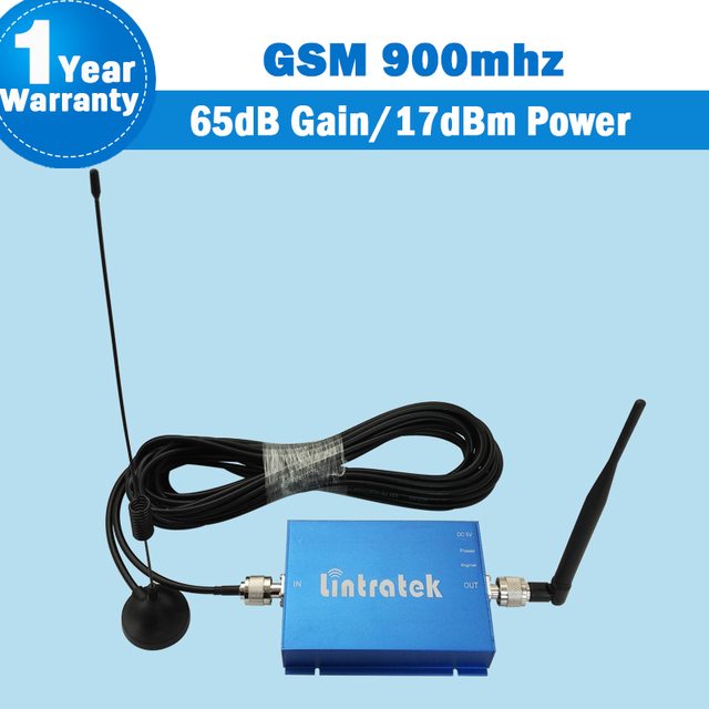 Free Shipping Lintratek GSM 900MHz 65dB Mobile Signal Repeater GSM 900 Cell Phone Booster Cellular Amplifier For Home