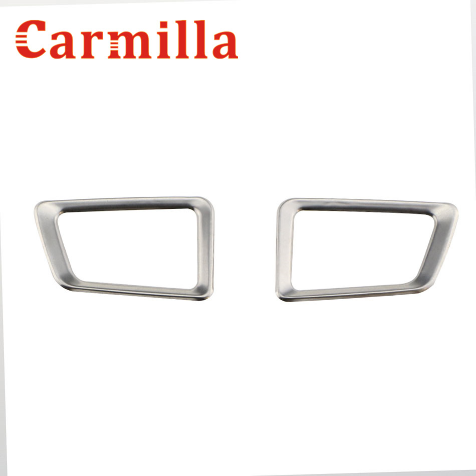Carmilla car front inner air vent outlet refitting stainless steel decoration sticker for ford new everest 2016 2017 accessories