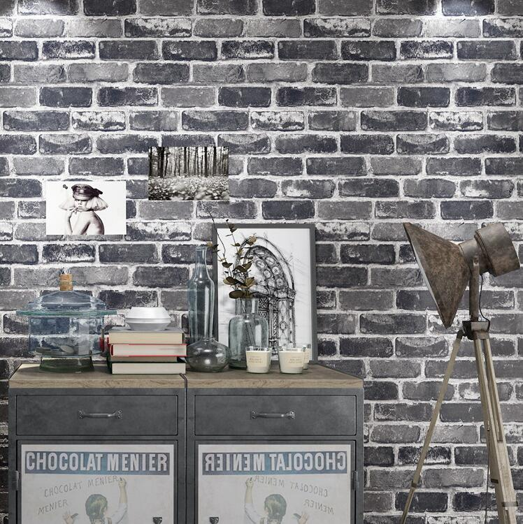 3D Rustic Vintage Brick Wall Paper Background Wallpaper For Living Room Bedroom Hallway In Wallpapers From Home Improvement On