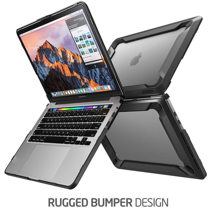 Pour MacBook Pro 15 Case A1990/A1707 (2019 2018 2017 libération 2016) avec barre tactile Touch ID protection de pare-chocs en polyuréthane caoutchouté robuste - 3